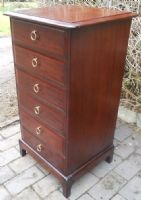 Small Tall Mahogany Six Drawer Chest by Stag
